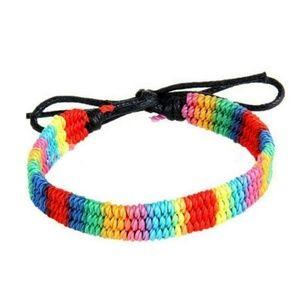 Jewelry - LGBT Bracelet, Rainbow Bracelet, Pride Woven Brace